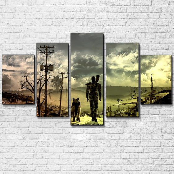 Fallout 5 Panel Wall Art Canvas Panel Print Poster Framed UNframed