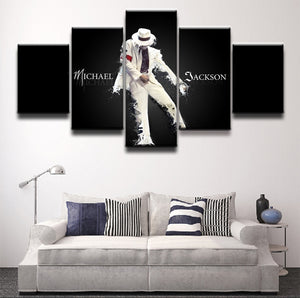 Michael Jackson 5 panel canvas wall art picture poster