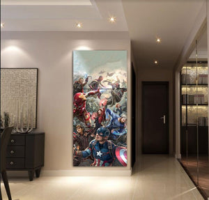 3 Pieces Avengers Comic Super Hero Figure Home Decor For Living Room Wall Art