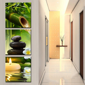 Wall Canvas Art Panel Print Poster Wall Modular Picture 3 Pieces Panel Bamboo : cheap canvas prints wall paintings pictures