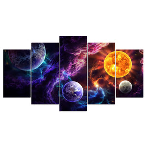 Plan of Salvation by JoJoesArt 5 Panel canvas art planets universe Panel Wall Ar : cheap canvas prints wall paintings pictures
