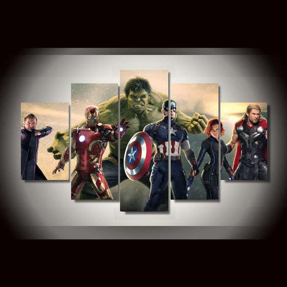 5 Panel Movie Avengers Home Decoration Panel Wall Art on Canvas