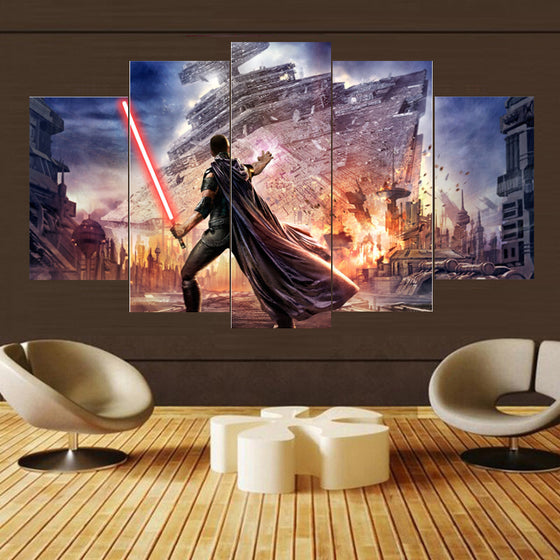 5 Panel Movie Star Wars Canvas Print Art Home Wall Decor Wall Art Panel Print
