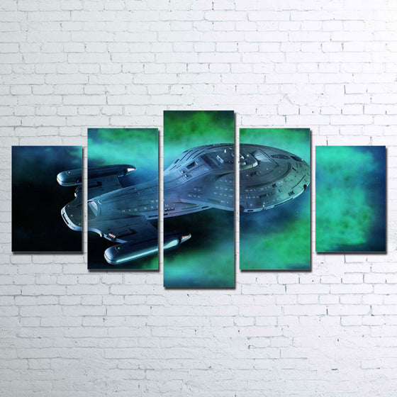 Star Trek Voyager 5 Panel Wall Art on Canvas Panel Print Framed UNframed