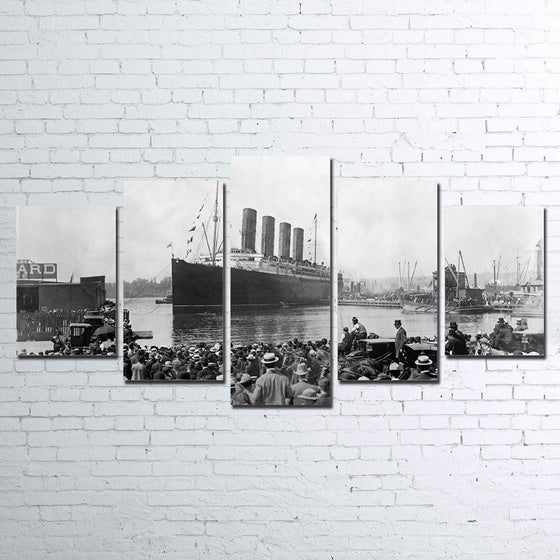Titanic ship movie 5 panel canvas panel wall art poster print wall decor