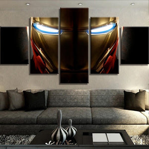 5 Piece Canvas Art Iron Man Marvel Movie Poster Print on Canvas Wall Art for Home