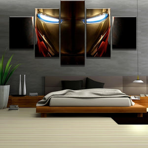 5 Piece Canvas Art Iron Man Marvel Movie Poster Print on Canvas Wall Art for Hom