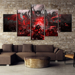 5 Piece World of Warcraft Game Poster Wall Art Canvas Picture Print