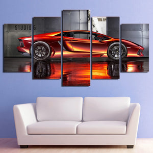 HD Printed Red sports super car canvas print room decor print poster picture can