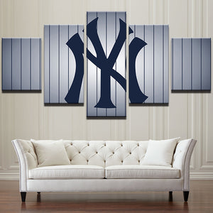 5 Panel New York Yankees Baseball Team Wall Art Canvas Print Picture Cuardros : cheap canvas prints wall paintings pictures