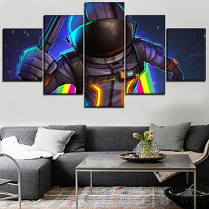 Canvas Fortnite Role Printed 5 Pieces Wall Art Modular Print Home Decor