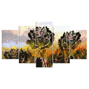 Abstract Rose Flower Floral Wall Art Canvas Panel Print Picture Cuadros