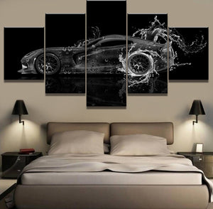 Dodge Viper Water Car Poster Modern Decorative Canvas Wall Print