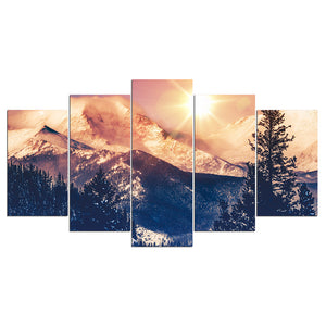 Mountain Canvas Painting Winter Canvas Landscape Wall Art Print Picture : cheap canvas prints wall paintings pictures