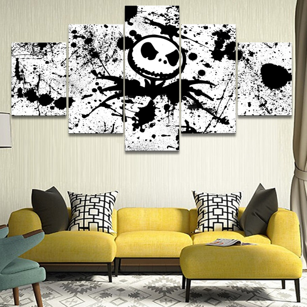 The Nightmare Before Christmas Movie Jack Black White Poster Panel ...