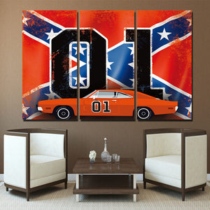 3 Piece Panels The General Lee Dukes of Hazzard 1969 Charger
