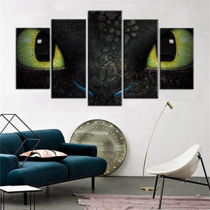 5 Piece Dragon Wall Painting Canvas Art Toothless Canvas Wall Art Living Wall