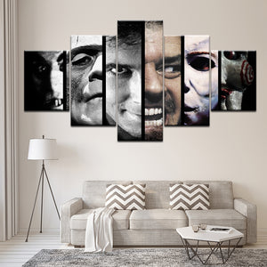 Scary Movie horror movie Friday 13th 5 Pieces Wall Art Canvas Print