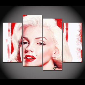 4 piece canvas print Marilyn Monroe super star HD posters prints wall art : cheap canvas prints wall paintings pictures