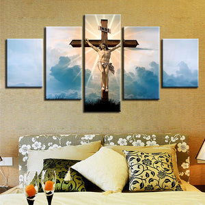 Christian Religion Jesus God Cross Landscape Poster Wall Art Canvas Panel Print : cheap canvas prints wall paintings pictures