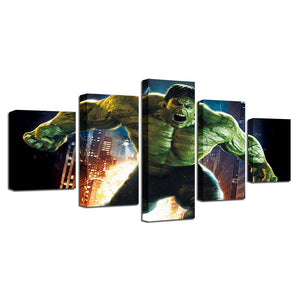 5 Pieces Movie Hulk Painting Home Bedroom Or Living Room Decoration Wall Art