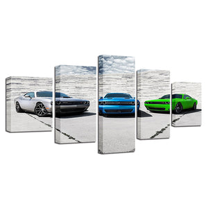 Dodge Challenger B5 Blue Sublime Green Billet Silver RT SRT Hellcat Wall Art : cheap canvas prints wall paintings pictures