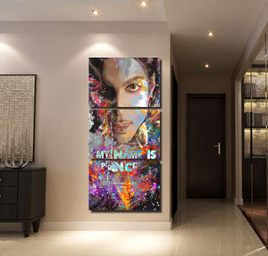 3 Pieces Prince Music Star Poster Modern Wall Art Home Wall Decor Picture : cheap canvas prints wall paintings pictures