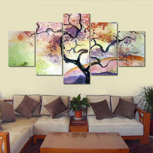 5 Pieces  Abstract Flower tree Pictures Home Decor Framework : cheap canvas prints wall paintings pictures