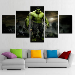 5 Pieces Hulk Movie Modular Pictures Framework Artwork Poster - Selections : cheap canvas prints wall paintings pictures