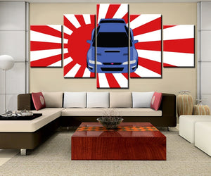 Impreza Sports  Car Auto 5 Pieces Modular Canvas Wall Art Panel Print : cheap canvas prints wall paintings pictures