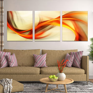 3 Pieces Ribbon Square Abstract Wall Art Canvas Panel Print : cheap canvas prints wall paintings pictures