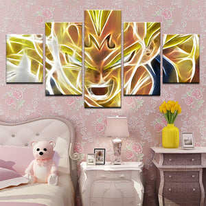 5 Panel Dragon Ball Majin Vegeta Canvas Print For Living Bed Room Picture Wall A