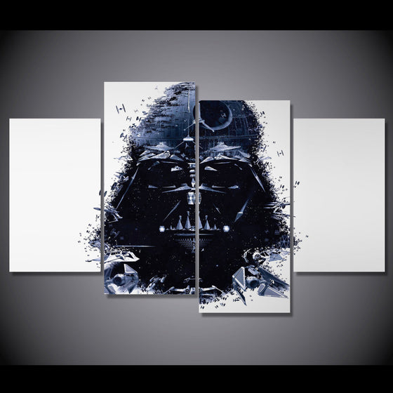 Panel Star Wars Abstract Darth Vader 4 piece wall art - ASH Wall Decor - Wall Art Picture Painting Canvas Living Room