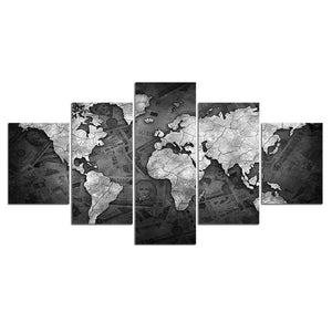 "IN STOCK - Map Currency Money Wall Art Canvas Panel Print  80"" WIDE"