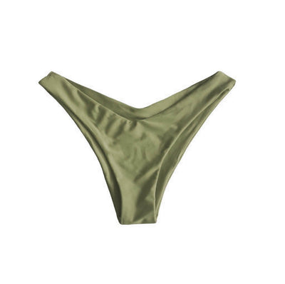 MALDIVES BIKINI BOTTOMS IN KHAKI WILLOW - PINKCOLADA
