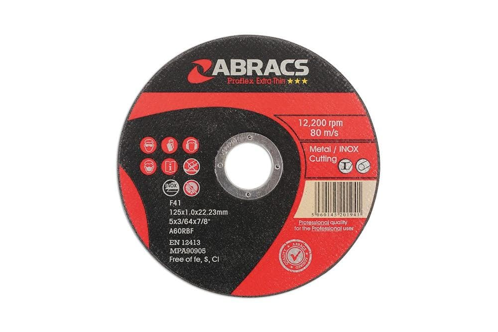 Laser Abracs 125mm x 1.0mm Thin Cutting Discs Pack 10 for Land Rover All Models | 32054