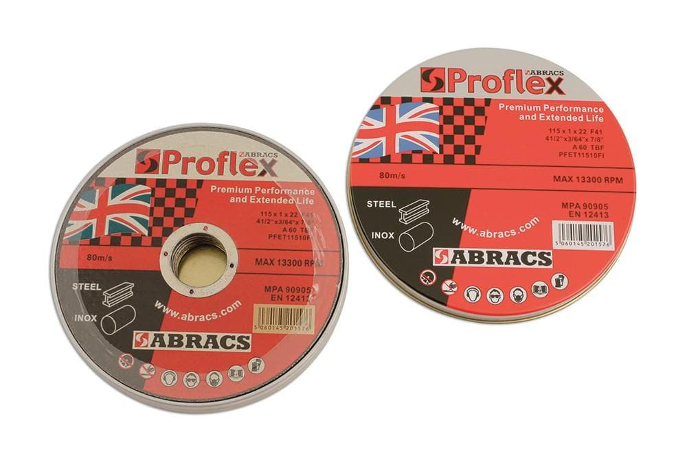 Laser Abracs 115mm x 1.0mm Thin Discs 10 x 10 Tins for Land Rover All Models | 32069