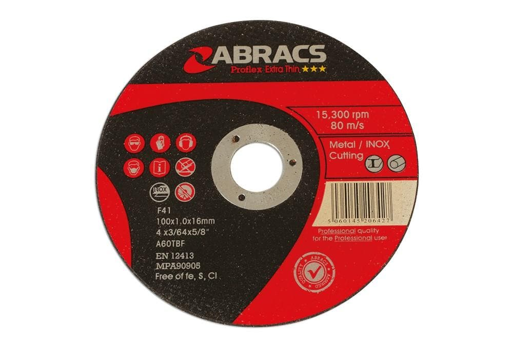 Laser Abracs 100mm x 1.0mm Thin Cutting Discs Pack 10 for Land Rover All Models | 32144