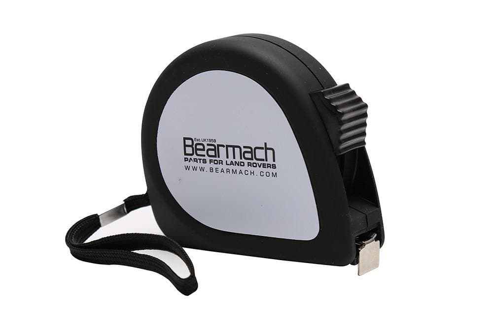 Bearmach 5m Plastic Tape Measure with Wrist Strap and Belt Clip Black for Land Rover All Models | 50143479