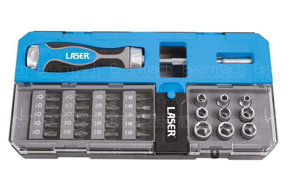 Laser Ratchet Bit and Socket Set 33pc for Land Rover All Models | 6992