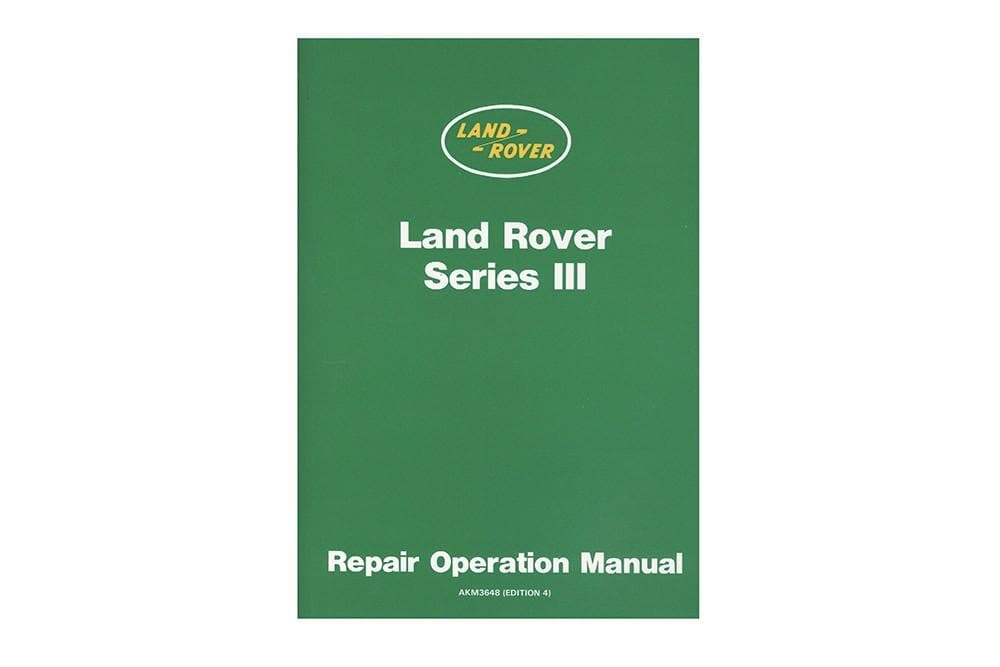 OEM Workshop Catalogue - Series 3 for Land Rover Series | AKM3648