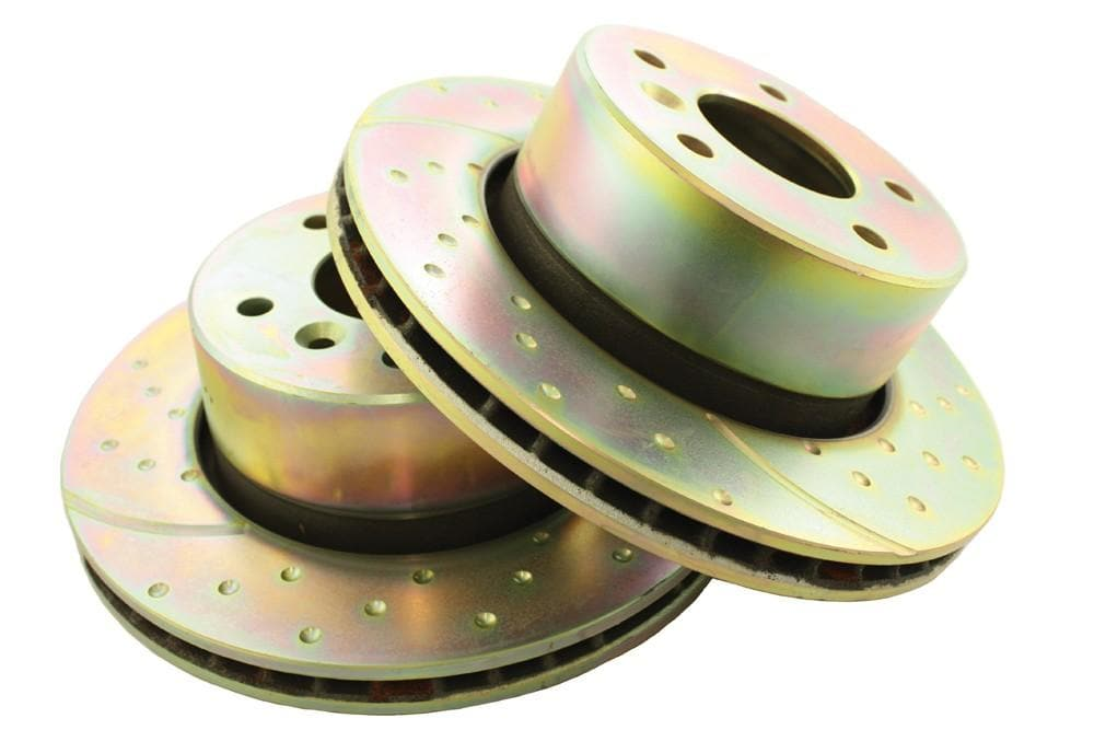 EBC Front Performance Drilled & Grooved Brake Discs (Pair) for Land Rover Discovery | ANR4582P