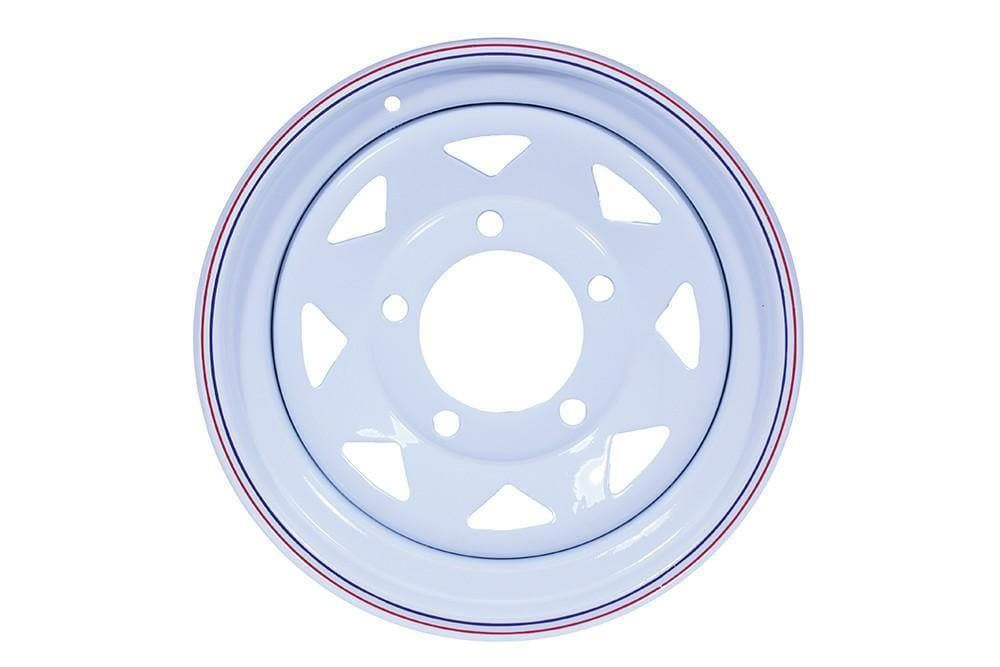 Bearmach 16 x 7White 8 Spoke Steel Wheel for Land Rover Series, Defender, Discovery, Range Rover | BA 015AS