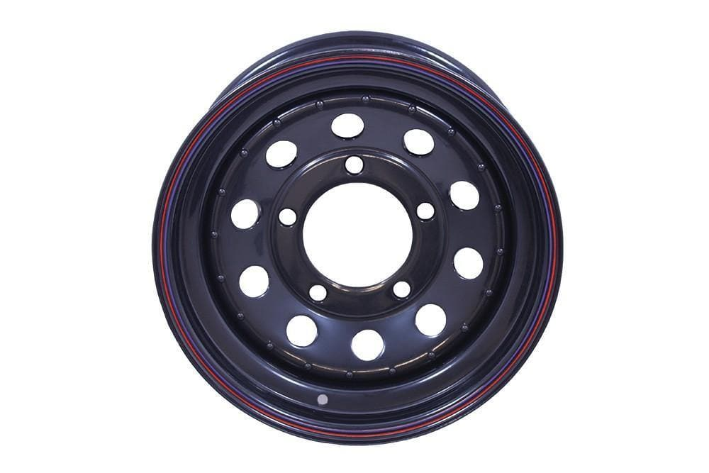 Bearmach 16 x 7 Black Modular Steel Wheel for Land Rover Series, Defender, Discovery, Range Rover | BA 015DS