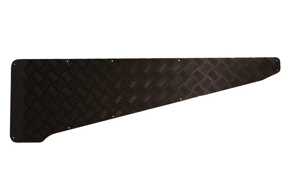 Bearmach 2mm Black Wing Top Chequer Plate - No Hole for Land Rover Series | BA 113C