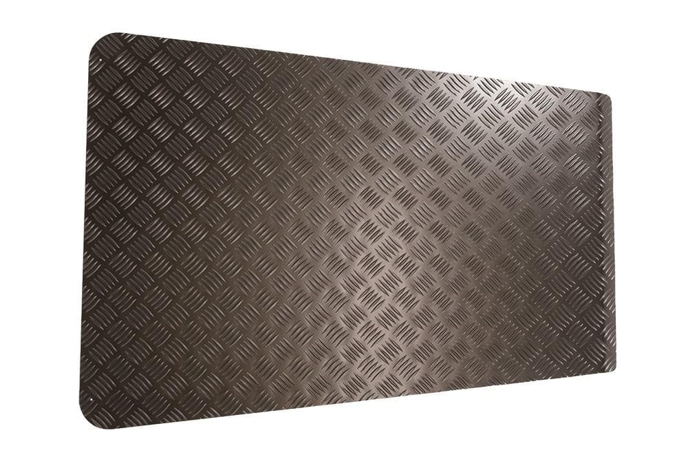 Bearmach Defender Pre 2007 3mm Black Bonnet Chequer Plate for Land Rover Defender | BA 120B