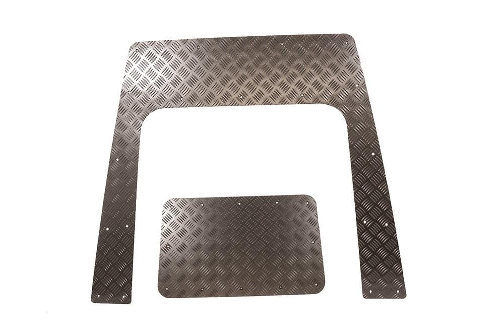 Bearmach Defender Puma 3mm Black Bonnet Chequer Plate for Land Rover Defender | BA 120D