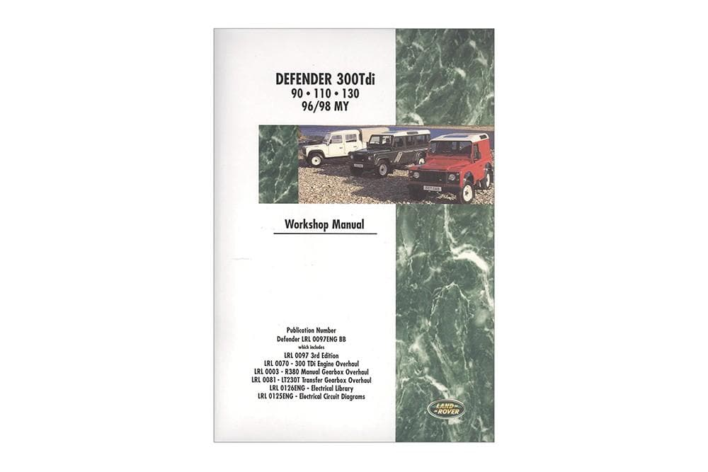 OEM Workshop Manual - Defender 1996 - 1998 for Land Rover Defender | BA 3064