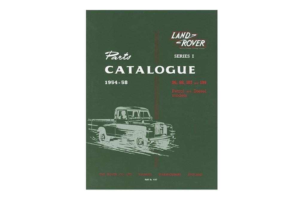 OEM Parts Catalogue - Series 1 1954 - 1958 for Land Rover Series | BA 3067