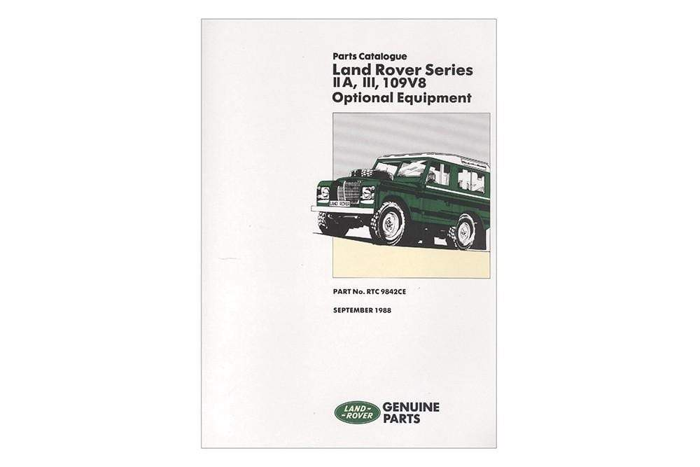 OEM Option Parts Catalogue - Series 2a & 3 for Land Rover Series | BA 3069